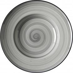 Πιάτο Σπαγγετι Πορσελάνης Porline Grey 26cm Porline Porselen