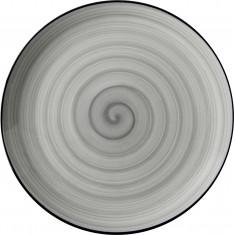 Πιατέλα Στρογγυλή  Πορσελάνης Porline Grey 30cm Porline Porselen