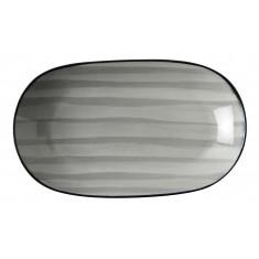 Πιατέλα Οβάλ  Πορσελάνης Porline Grey 29cm Porline Porselen