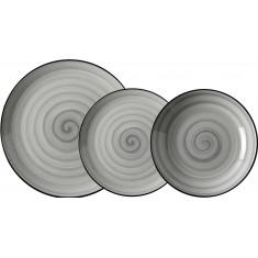 Σερβίτσιο Φαγητού Πορσελάνης Porline Grey Σετ 18Τμχ Porline Porselen