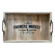Δίσκος Ξύλινοσ Mango Farmer Market 45cm