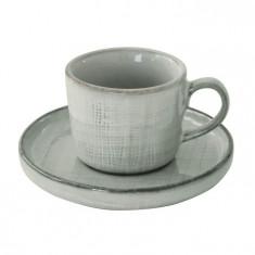 Φλιτζάνι Πορσελάνης Καφέ Με Πιάτο Country Grey R2S