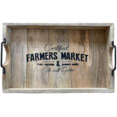 Δίσκος Ξύλινος Mango Farmer Market 57cm