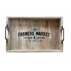 Δίσκος Ξύλινος Mango Farmer Market 38cm