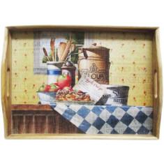 Δίσκος Σερβιρίσματος Ξύλινος Bakery 41cm
