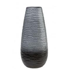 Βάζο Κεραμικό Κωνικό Grey Fusion 29,5cm