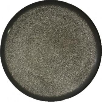 Πιατέλα Στρογγυλή  Πορσελάνης Marble Black 31cm
