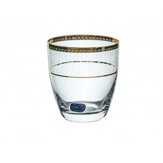Ποτήρι Ουίσκι Κρυστάλλινο Bohemia 300ml Σετ 6Τμχ Elisabeth Gold