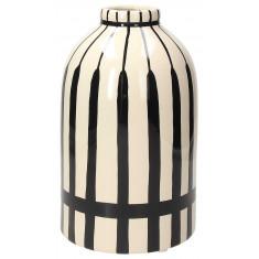 Βάζο Κεραμικό Black Stripes Andrea Fondebasso 24cm