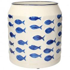 Βάζο Μεταλλικό Aquarius Blue Andrea Fontebasso 23cm