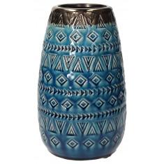 Βάζο Κεραμικό Tulum Blue 24cm Andrea Fontebasso