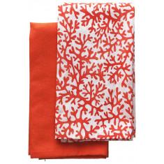Πετσέτες Κουζίνας βαμβακερές Σετ 2τμχ. Reef Cotton Red 40Χ40 Andrea Fontebasso