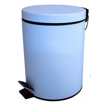 Πεντάλ Μεταλλικό Στρογγυλό 5lit. Blue Mat