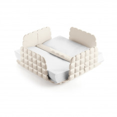 Χαρτοπεσετοθήκη Επιτραπέζια Tiffany White Guzzini