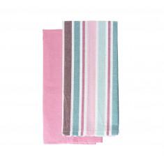 Πετσέτες Κουζίνας βαμβακερές Σετ 2τμχ.FresiaCotton Red 45x70cm Andrea Fontebasso