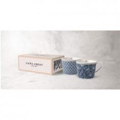 Κούπα Laura Ashley Σετ 2τμχ. Tea Blue Fine Bone China 280ml Tea Collectables