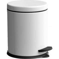 Πεντάλ Μεταλλικό Στρογγυλό 5lit. Micro White