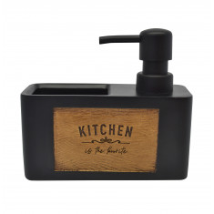 Dispencer Θήκη Για Υγρό Απορυπαντικό Πιάτων Kitchen Black
