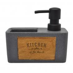 Dispencer Θήκη Για Υγρό Απορυπαντικό Πιάτων Kitchen Grey
