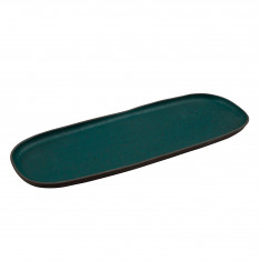 Πιατέλα Πορσελάνης Οβαλ Granite Petrol 50cm