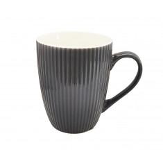 Κούπα Πορσελάνης New Bone China Stripe Grey 350ml