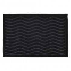 Πατάκι Εισόδου Καοτσούκ Wave Black 40Χ60