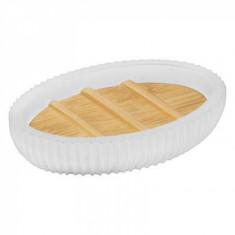 Θήκη Για Σαπούνι Polyester Natureo White 5Five