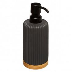 Dispencer Θήκη Για Κρεμοσάπουνο Polyester Natureo Black 5five