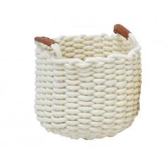 Καλάθι Υφασμάτινο Πλεχτό Cotton Rope Cream 26cm