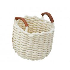 Καλάθι Υφασμάτινο Πλεχτό Cotton Rope Cream 24cm