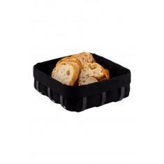 Ψωμιέρα Μεταλλική Μαύρη Τετράγωνη Black Mat Teknotel
