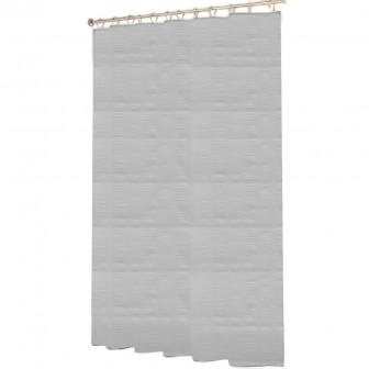 Κουρτίνα Μπάνιου Ανάγλυφη Υφασμάτινη Λευκή 180x200cm