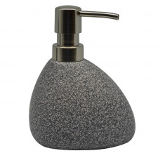 Dispencer Θήκη Για Κρεμοσάπουνο Κεραμικό Grey Stone