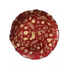 Πιατέλα Γυάλινη Christmas Red Brandani 32cm