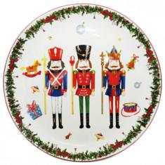 Πιατέλα Κεραμική Χριστουγεννιάτικη Κεραμική Στρογγυλή Nutcracker 66cm