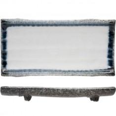 Πιατέλα Πορσελάνης Ορθογώνια Sea Pearl 24cm Cosy & Trendy