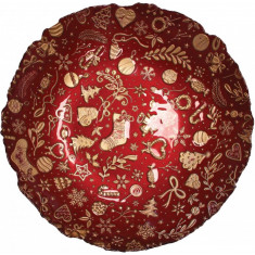 Πιατέλα Γυάλινη Βαθειά Christmas Red Brandani 40cm