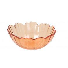 Μπολ Γυάλινο Flower Orange 12cm Tognana