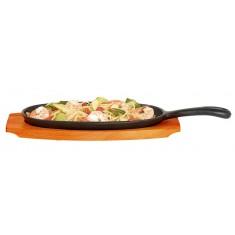 τηγάνι οβάλ μαντέμι με δίσκο σερβιρίσματος kitchencraft