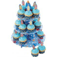 βάση παρουσίασης cup cake χάρτινη πύραυος kitchencraft