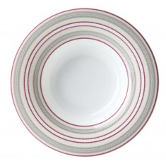 Πιάτο Βαθύ Ριγέ Σετ 6Τμχ Εξοχή 23cm Ionia