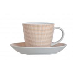 Φλυτζάνι & Πιάτο Καφέ Punrto Orange Σετ 6τμχ Ionia