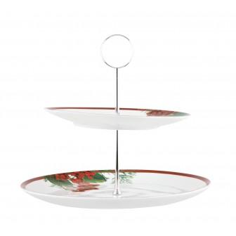 Ορντεβιερα διόροφη  Στρογγυλή Red Berry 27cm Ionia
