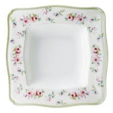 Πιάτο Βαθύ Τετράγωνο Σετ 6Τμχ Romantica 21cm