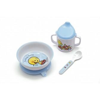 Σετ Φαγητού BeBe Smiley Baby Boy Zak Designs 3Τεμ. Μελαμίνης